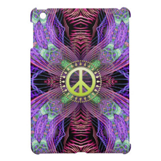 Fractal Gateway Purple Green Peace iPad Mini Case
