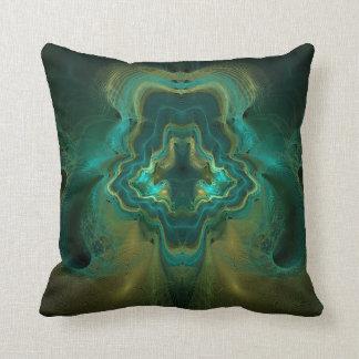 Fractal Geode Throw Pillow