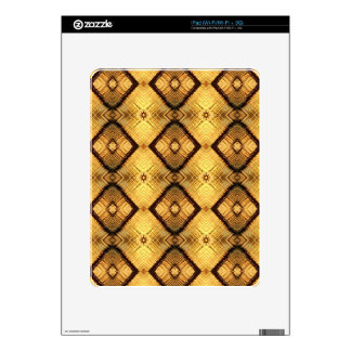 Fractal Geometric Deep Yellow Brown Pattern Skins For The iPad