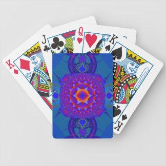 Fractal geometric pattern playing cards