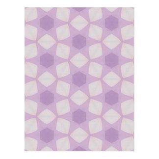 Fractal geométrico de las púrpuras bonitas tarjetas postales