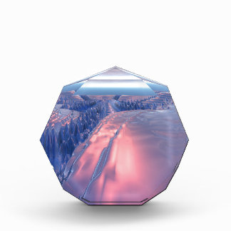 Fractal Glacier Landscape Acrylic Award