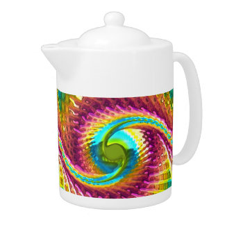 Fractal Glass 7 Teapot