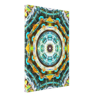 Fractal Glass Kaleidoscope Stretched Canvas Print