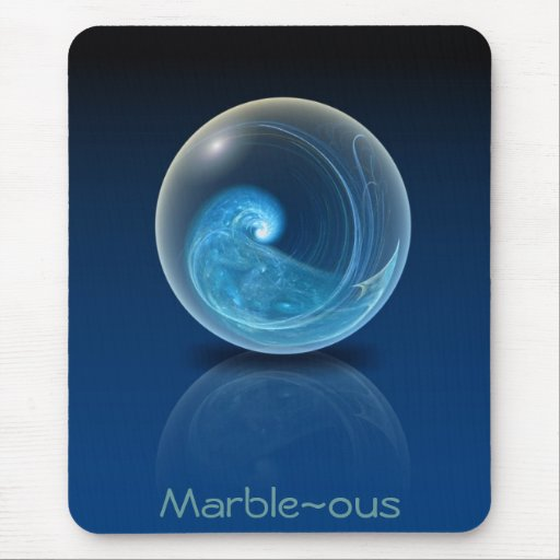Fractal Glass Marble Mouse Pad