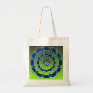 Fractal Glass Plate Tote Bag
