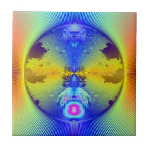 Fractal global de la fusión azulejo cuadrado pequeño