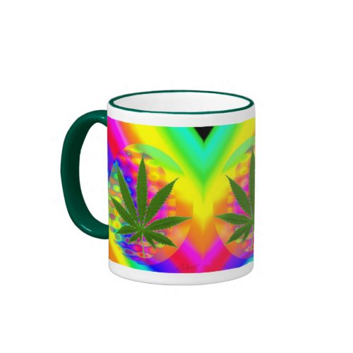 Fractal Globe & Leaf mug