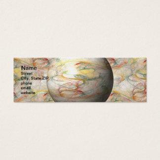 Fractal Globe Mini Business Card