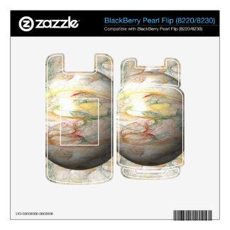 Fractal Globe BlackBerry Pearl Decal