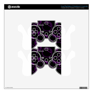 Fractal glowing background PS3 controller skins