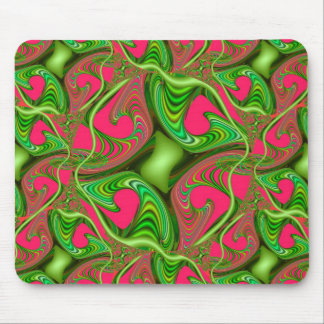 Fractal Gnarl Addicted to Lime Mouse Pad