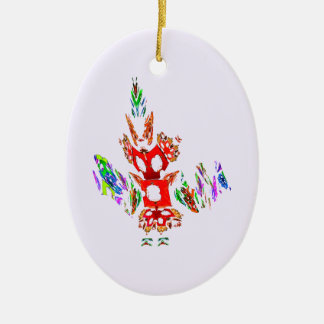Fractal - Gombay Dancer Christmas Tree Ornament