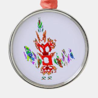 Fractal - Gombay Dancer Christmas Ornament