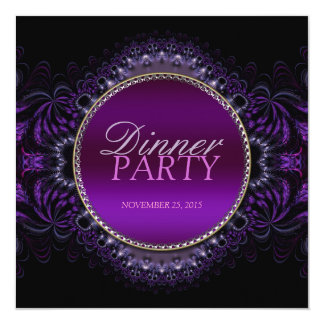 Fractal Goth Tapestry Dinner Party Invitation