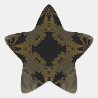 Fractal grabado en relieve 30 calcomanía forma de estrella personalizada