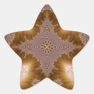 Fractal grabado en relieve 8 calcomanía forma de estrella personalizadas