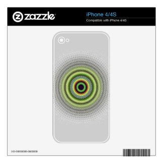 Fractal Gray Misty Owl Eye Decals For iPhone 4