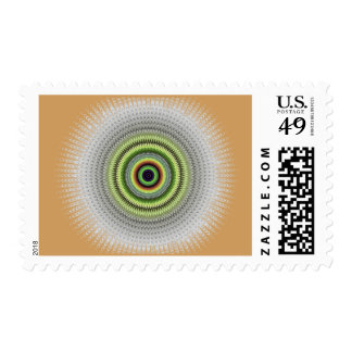 Fractal Gray Misty Owl Eye Postage
