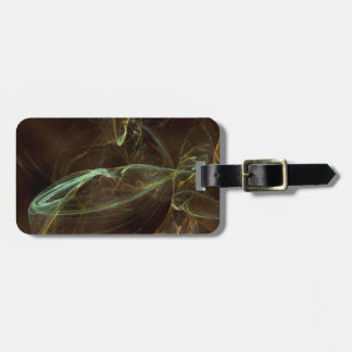 Fractal - green and blue luggage tag