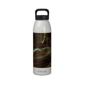 Fractal - green and blue reusable water bottles
