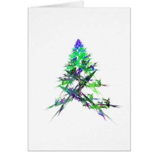 Fractal - Green Christmas Tree Card