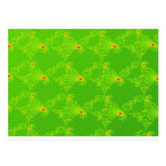 Fractal Green Diamonds Swatch Postcard