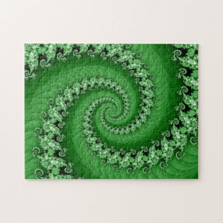 Fractal Green Double Spiral Puzzle