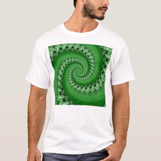 Fractal Green Double Spiral Shirt