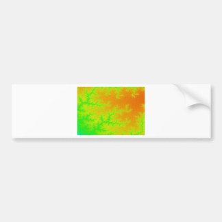 Fractal Green Orange Swatch Bumper Sticker