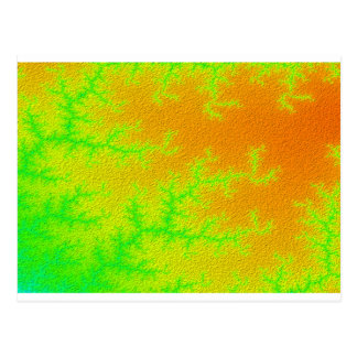 Fractal Green Orange Swatch Postcard