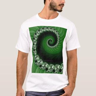 Fractal Green Spiral Shirt
