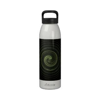 Fractal Green Spiral Drinking Bottles