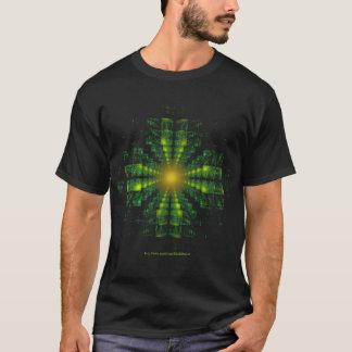 Fractal Green Square Cross Shirt
