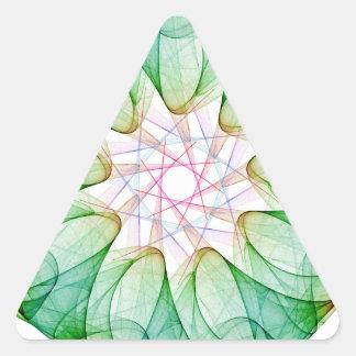 Fractal Green Triangle Sticker
