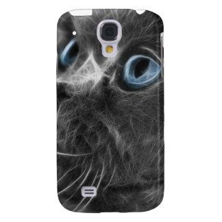 Fractal gris iPhone3G de la acuarela del gato pers