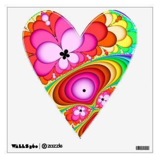 Fractal Groovy Trip Heart Wall Decal