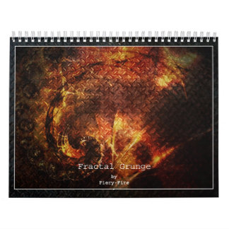 Fractal Grunge 2015 Calendar