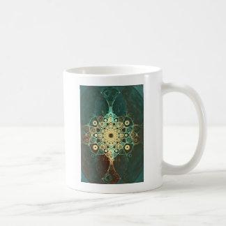 Fractal grunge coffee mugs