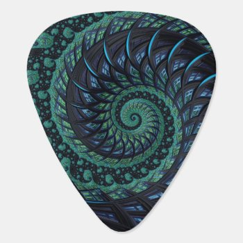 Fractal Guitar Pick by The_Art_of_Sophia at Zazzle