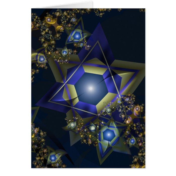 Fractal Hanukkah Card