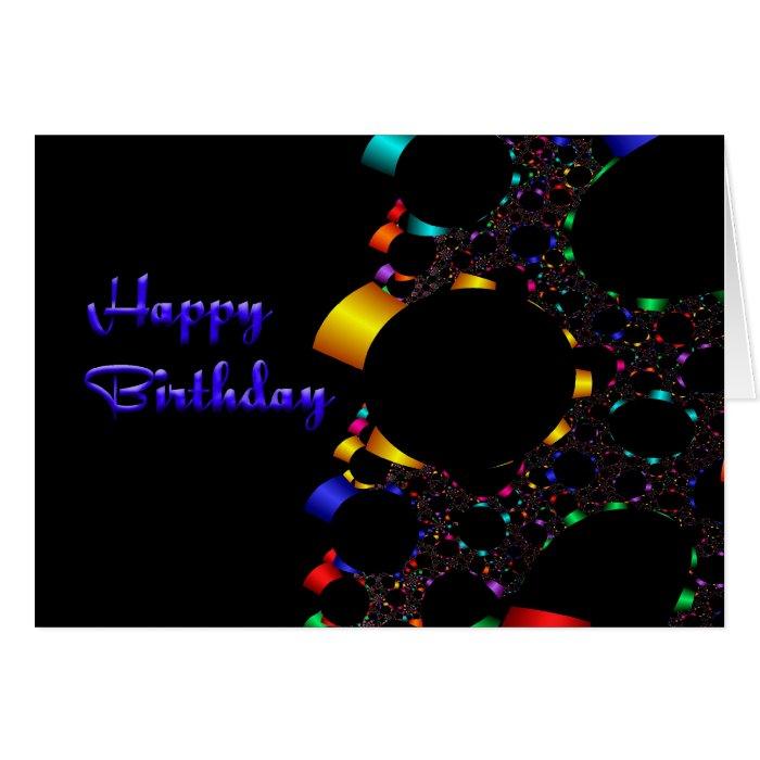 Fractal Happy Birthday Card