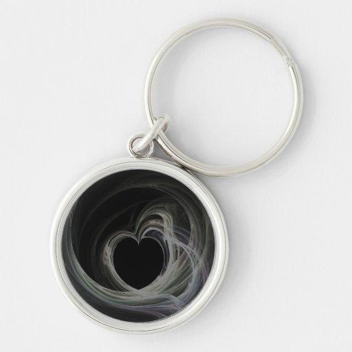 Fractal Heart Art Key Chain