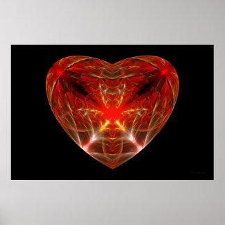 Fractal - Heart - Open heart Posters