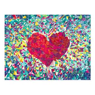 Fractal Heart Postcard