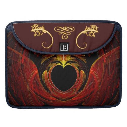 Fractal - Heart - Victorian love Sleeve For MacBooks
