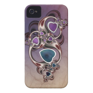 Fractal Hearts iPhone 4 Case