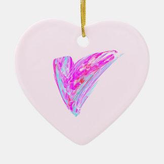 Fractal - Heart's Desire Double-Sided Heart Ceramic Christmas Ornament
