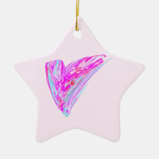Fractal - Heart's Desire Double-Sided Star Ceramic Christmas Ornament