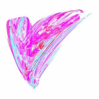 Fractal - Heart's Desire Photo Sculpture Button
